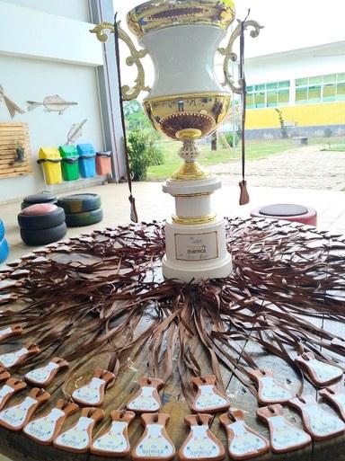 Troféu e medalhas