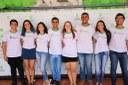 Estudantes que compareceram para foto oficial