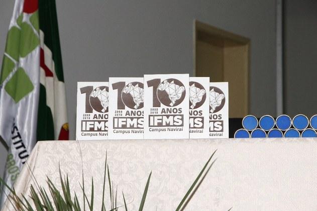 Placas comemorativas 10 anos IFMS