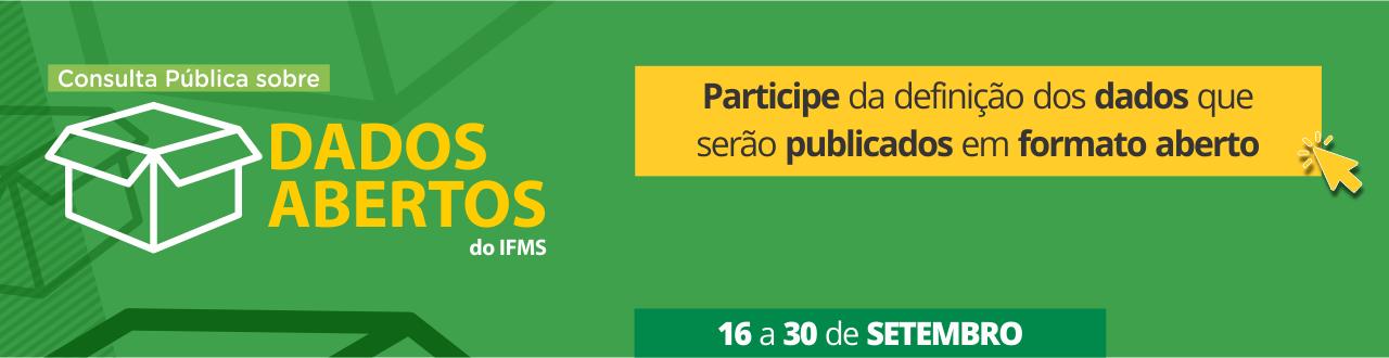 Topo Consulta Pública sobre Dados Abertos do IFMS