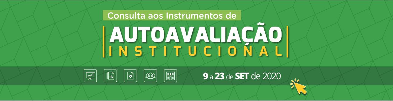 Topo Consulta Pública aos Instrumentos de Autoavaliação Institucional