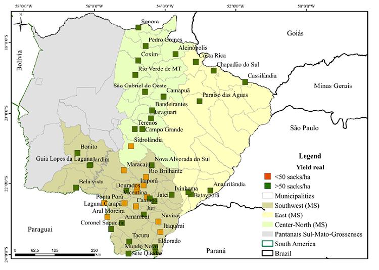 mapa soja