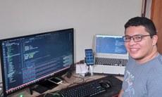 O acadêmico Kleiton atuou no desenvolvimento da aplicação web voltada à Vigilância Sanitária