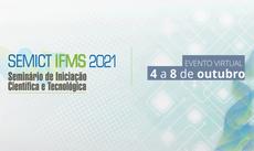 Prazo agora vai até dia 19. Evento virtual será realizada em outubro. Podem participar estudantes de graduação do IFMS