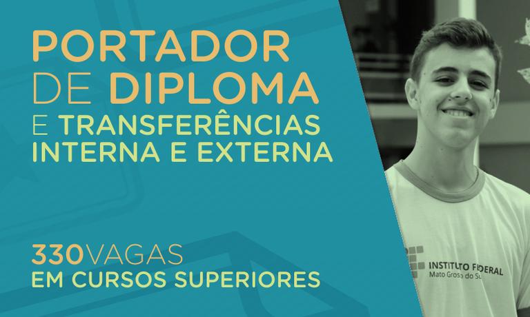 Transferência interna e externa e portador de diploma