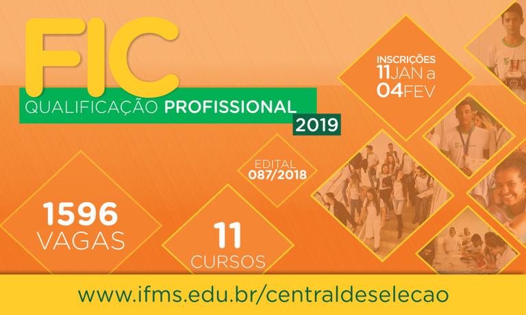 Formação Inicial e Continuada e Qualificação Profissional 2019