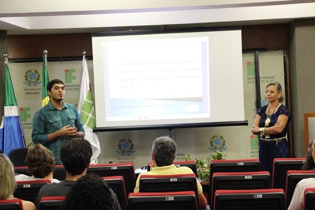 André dividiu sua experiência na iniciação científica no IFMS - Foto: Ascom/IFMS