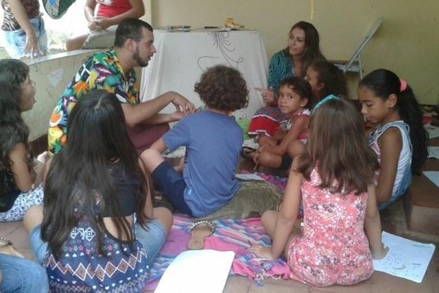 Crianças podem participar de contação de histórias e brincadeiras - Foto: Campus Coxim/IFMS