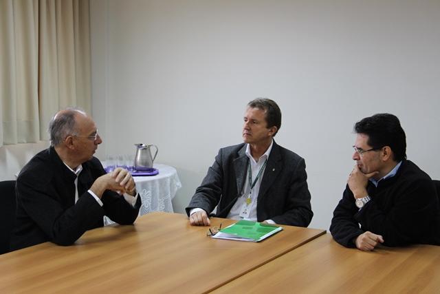 Prefeito de Ponta Porã esteve em visita à unidade do IFMS no município - Foto: Ascom/IFMS