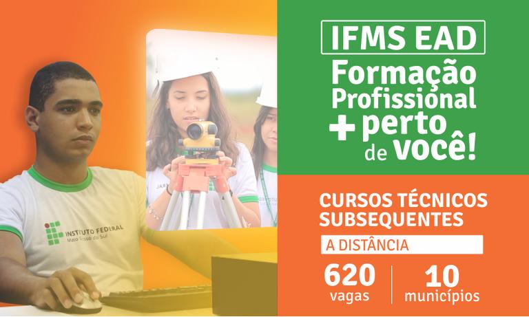 Cursos técnicos subsequentes a distância do IFMS