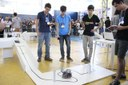 Nas provas robôs precisam seguir uma trilha cheia de obstáculos e desafios - Foto Campus Campo Grande.JPG