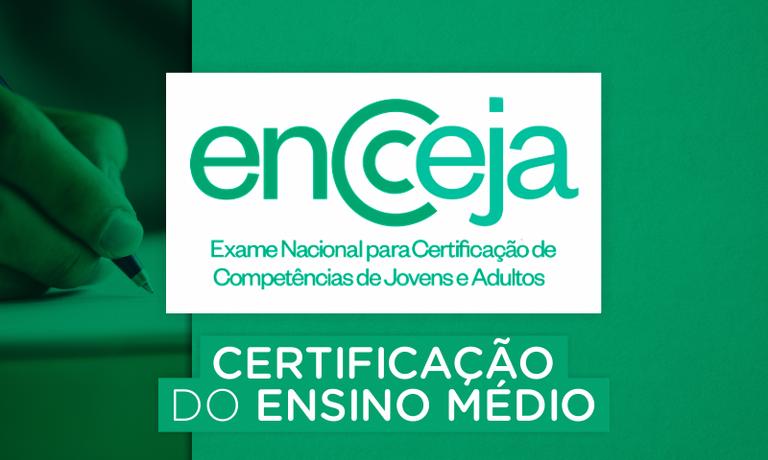 Certificação do Ensino Médio Encceja 2018