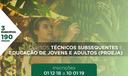 Cursos Técnicos Subsequentes e Proeja 2019.1