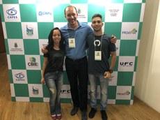 IFMS foi representado por Ana Clara, Fernando e Carlos Eduardo na edição 2018 do CBIE