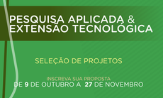 Até 27 de novembro podem ser submetidas propostas para solução de problemas do setor produtivo a partir do desenvolvimento de produtos, processos e serviços e da transferência de tecnologia.