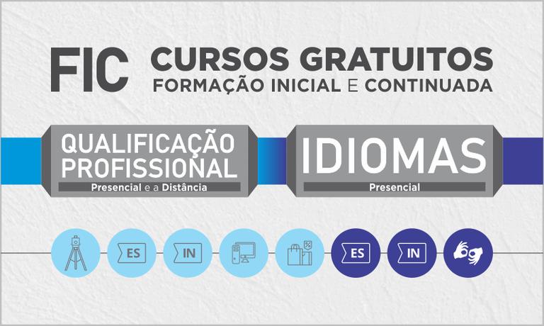 Cursos de Formação Inicial e Continuada e Qualificação Profissional (FIC)